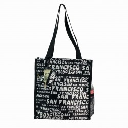 "12.5"" Tote Bag  Black White San Francisco"