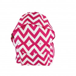 B8-601-P Chevron Pattern Backpack-Pink