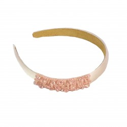 Simple Shine Glass Crystal Headband-Pink