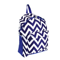 B8-601-Blue Blue White Chevron Pattern Backpack