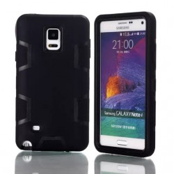 Heavy Duty and Rugged Hybrid Rubber Shock Proof Hard Case for Samsung Galaxy Note 4-Black /Black