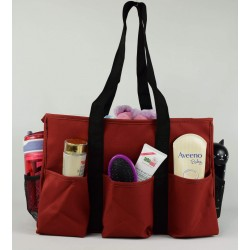 NT19-208C Solid Red Patterns 7 pockets tote bags, Utility bags, Diaper bag and Market bag