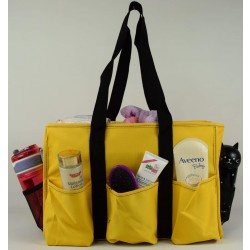 NT19-117C Solid Yellow Patterns 7 pockets tote bags, Utility bags, Diaper bag and Market bag