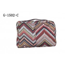 G-1502-C Soft Fashion Bible Cover-Brown Zigzag