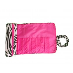 HY008-2006-P Big Around Brush Rolling Bag Zebra Pink