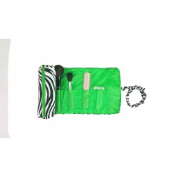 HY008-2006-G Big Around Brush Rolling Bag Zebra Green