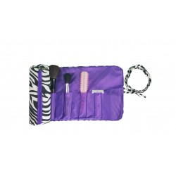 HY008-2006-PU Big Around Brush Rolling Bag Zebra Purple