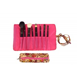 HY008-501-P Big Around Brush Rolling Bag Owl Pink