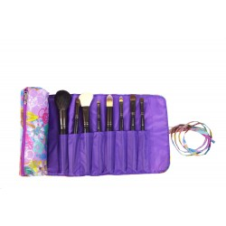 HY008-911 Big Brush Rolling Bag Purple Purple Flower