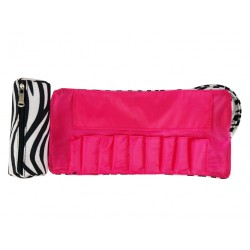 HY010-2006-P Samall Around Rolling Bag Zebra Pink Trim