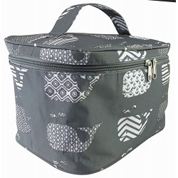 NC70-27-GREY collapsible makeup bag Grey White Whale