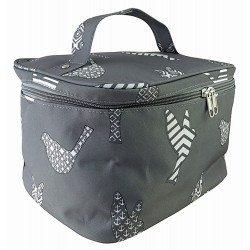 NC70-26-GREY collapsible makeup bag Grey White Bird