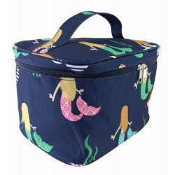 NC70-29-BL collapsible makeup bag Blue Multi Mermaid