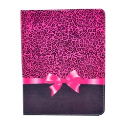 Apple iPad Mini 1st, 2nd, and 3rd Generation Compatible,  Pink Ribben with Leopard Folding Folio Case