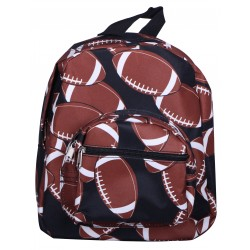 NB5-31 Brown Football Print Mini Backpack