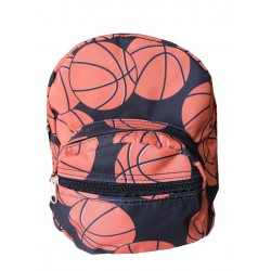 NB5-32 Brown Basketball Print Mini Backpack