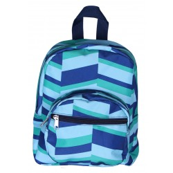 NB5-36-GB Blue Geometric Print Mini Backpack