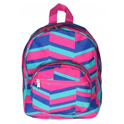 NB5-36-PBG Pink Blue Geometric Print Mini Backpack