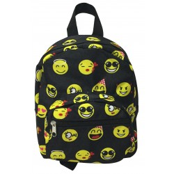 NB5-50-B Black Yellow Emoji Print Mini Backpack