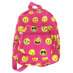 NB5-50-P Pink Yellow Emoji Print Mini Backpack