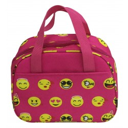 NC20-50-P Around Pink Background yellow emoji Pattern Lunch Bag