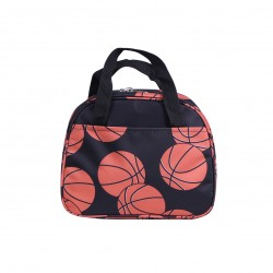NC20-32 Around Baseketball Background Pattern Lunch Bag