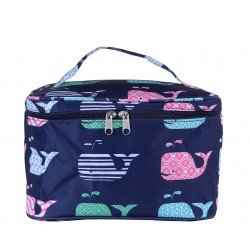 NC70-27-BL collapsible makeup bag Blue Multi Whale