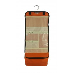 NCB25-164L Solid Orange Pattern Hanging and Folding Organizer Cosmetic Bag