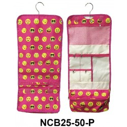 NCB25-50-P Emoji Pattern Hanging and Folding Organizer Cosmetic Bag
