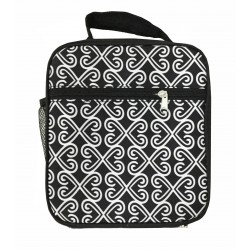 NCC17-17-BW Superior Black Twist Pattern Insulated Lunch Tote Bag