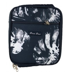 NCC17-51 Superior Black white Tree Leaf Pattern Insulated Lunch Tote Bag