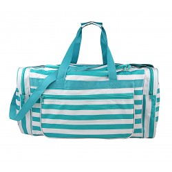 "ND22-23-TO Turquoise white stripe 21"" Duffel Bag"