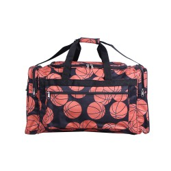 "ND22-32 Brown background Basketball  21"" Duffel Bag"