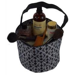 NH80-17-BW Black White Twist Pattern Trick or Treatbag, Easter Basket Bag, gift basket bag
