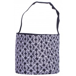 NH80-25-TO Turquoise Popsicle Pattern Trick or Treatbag, Easter Basket Bag, gift basket bag