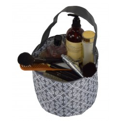 NH80-17-Grey Grey White Twist Pattern Trick or Treat Bag,  Easter Basket Bag, gift basket bag