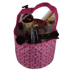 NH80-17-P Pink White Twist Pattern Trick or Treat Bag,  Easter Basket Bag, gift basket bag