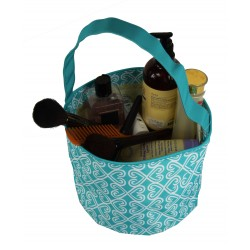 NH80-17-TO Turquoise White Twist Pattern Trick or Treat Bag,  Easter Basket Bag, gift basket bag