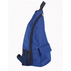 NMB-289C solid Blue Pattern one shoulder Sling back ,travel backpack .