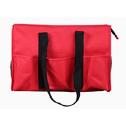 NT19-186C Solid Ribbon Red Patterns 7 pockets tote bags, Utility bags, Diaper bag and Market bag