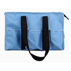 NT19-542C Solid Carolina Blue Patterns 7 pockets tote bags, Utility bags, Diaper bag and Market bag