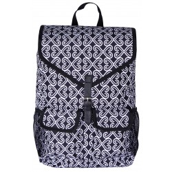 "NTP1-17-BW best backpack 18"" Black white Trendy Twist Backpack"