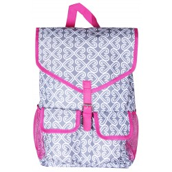"""NTP1-17-GREY-P best backpack 18"""" Grey white With Pink TrimTrendy Twist Backpack"""