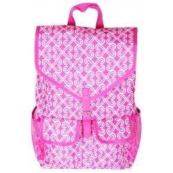 "NTP1-17-P best backpack 18"" Pink WhiteTrendy Twist Backpack"