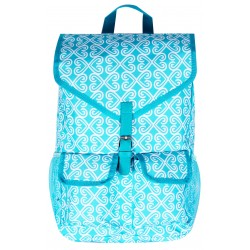 "NTP1-17-TO best backpack 18"" Turquoise WhiteTrendy Twist Backpack"