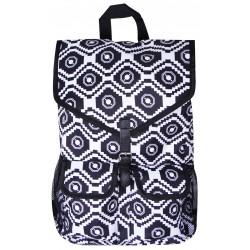 """NTP1-18-BW best backpack 18"""" Black white Trendy Geometric Backpack"""