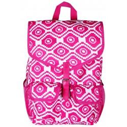 "NTP1-18-P best backpack 18"" Pink White Trendy Geometric Backpack"