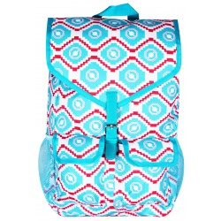 "NTP1-18-TP best backpack 18""  Turquoise Pink Trendy Geometric Backpack"