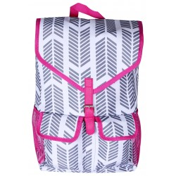 "NTP1-22-GREY-P best backpack 18"" Grey white With Pink TrimTrendy Arrow Backpack"