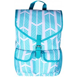 "NTP1-22-TO best backpack 18"" Turquoise White Trendy Arrow Backpack"